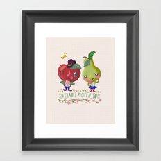 fruity love Framed Art Print
