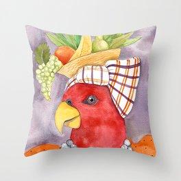 Carmen Miranda Parrot Throw Pillow