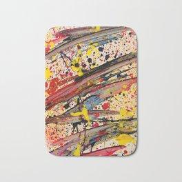 Abstract Spatter Bath Mat