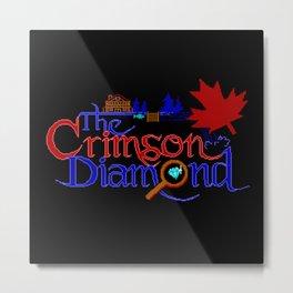 The Crimson Diamond colour logo Metal Print