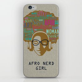 Afro Nerd Girl (Colours) iPhone Skin