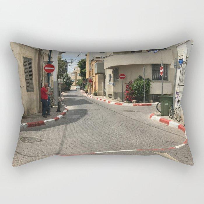 Tel Aviv photo - Kerem Hateimanim - Israel Rectangular Pillow