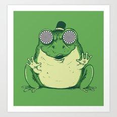 Hypnogenic Toad Art Print