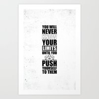 Lab No. 4 - You Will Never Know Your Limits Gym Inspirational Quotes Poster Art Print