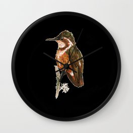 White-bellied Woodstar Wall Clock