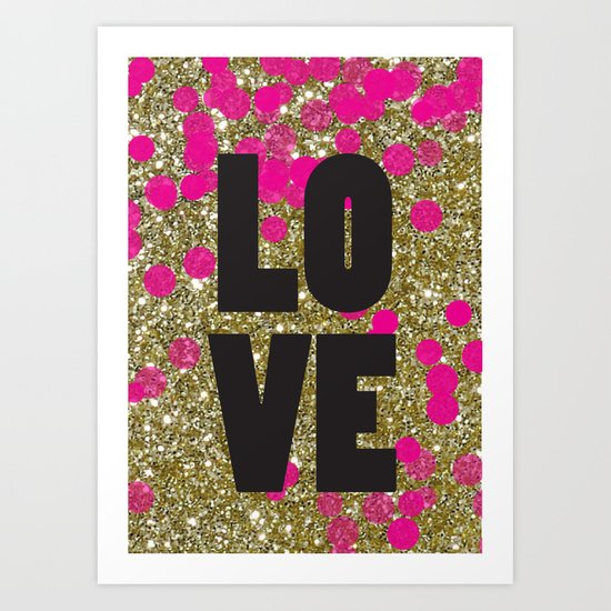 Love in Glitter Art Print