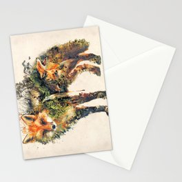 The Fox Nature Surrealism Stationery Cards