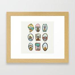 Animal Portraits Framed Art Print