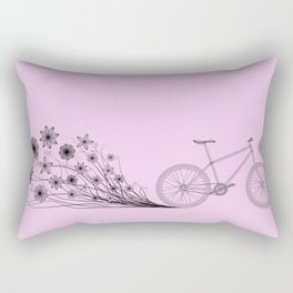 Cycling with flowers Rectangular Pillow