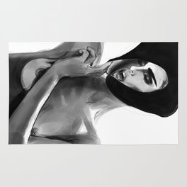 Don Lebon - Breathe Girl With Frame Rug