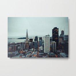San Francisco Financial District Metal Print