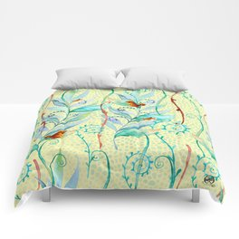 froggy succulents Comforters
