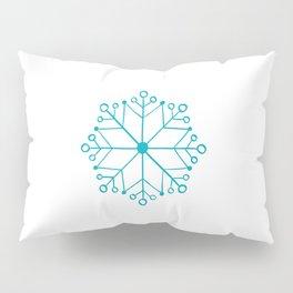 AQUA BLUE SNOWFLAKE  Pillow Sham