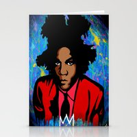 basquiat Stationery Cards featuring Basquiat by KgTheOctopus