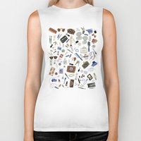 wallet Biker Tanks featuring Girly Objects by Yuliya