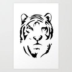 Minimalistic Tiger Face Art Print