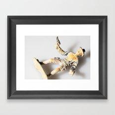 The Little Cowboy, fallen Framed Art Print
