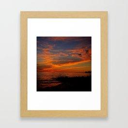 First Sunset of Summer Framed Art Print