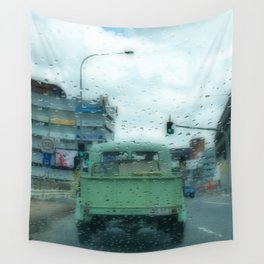 Rainy Days and Vintage Vehicles Wall Tapestry