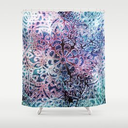Colourful Happy Ethnical Art Shower Curtain