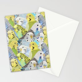 Budgie Parakeets Stationery Cards