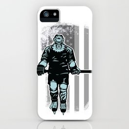 American Lion Hockey Player iPhone Case