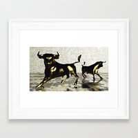 chicago bulls Framed Art Prints featuring Bulls by Nadja Heuer