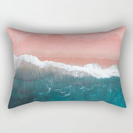 Turquoise Sea Pastel Beach II Rectangular Pillow