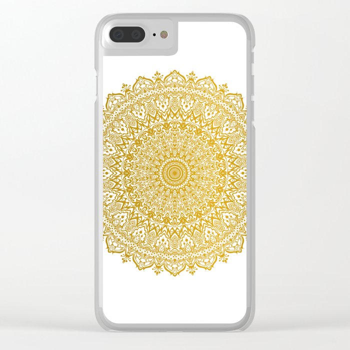 Beautiful Mandala Clear iPhone Case