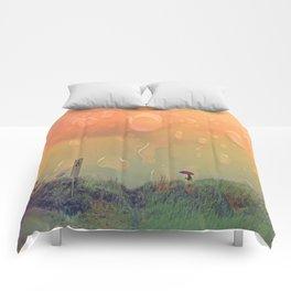 Rain in September Comforters