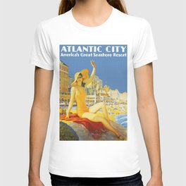 Atlantic City New Jersey - Retro Travel T-shirt