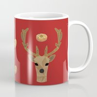 antler Mugs featuring Antler Home by My Studio