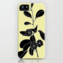 Goat's Foot (also known as Mauve Convolvulus, Beach Potato Vine, and Morning Glory) - Ipomoea pes-ca iPhone Case