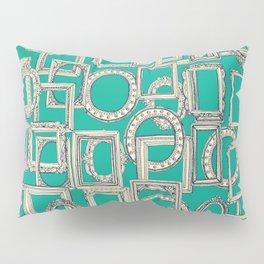 picture frames aplenty indigo jade Pillow Sham