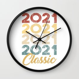 2021 Classic Vintage Style Anniversary Celebration Party Year Birthday Gift Wall Clock