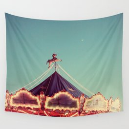 Crescent Moon Over Paris #2 Wall Tapestry