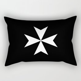 Hospitaller Cross Rectangular Pillow