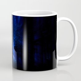 winter night in the magical forest Coffee Mug