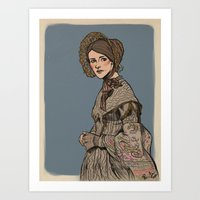 jane eyre Art Prints featuring Molly Hooper as Jane Eyre by Jess P.