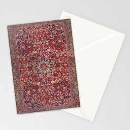 Fine Persia Bijar Old Century Authentic Colorful Red Blue Yellow Vintage Patterns Stationery Cards