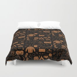 Autumn Nights: Halloween Duvet Cover