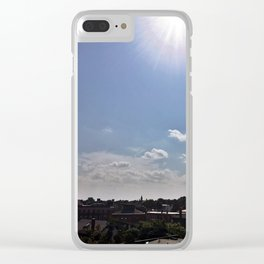 Solar Eclipse in Portland, Maine Clear iPhone Case