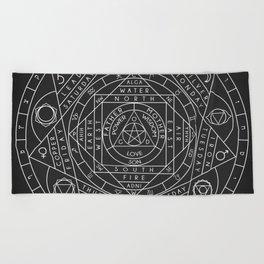 Sacred Geometry Beach Towel