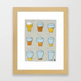 Beer diary. Framed Art Print