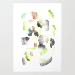 170603 Watercolour Colour Study 5  |Modern Watercolor Art | Abstract Watercolors Art Print