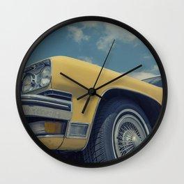 Vintage Yellow Car Wall Clock
