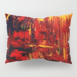 """Summer on the Delta"" Abstract Acrylic by Noora Elkoussy Pillow Sham"