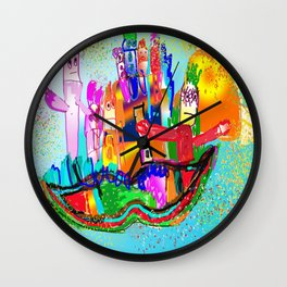 House of mustache Wall Clock
