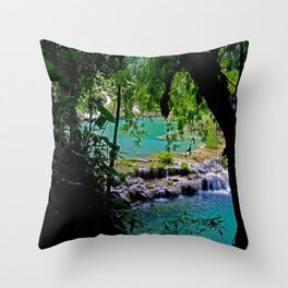 Between the branches Throw Pillow
