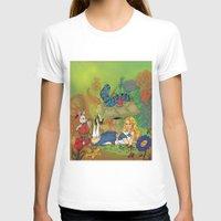 alice in wonderland T-shirts featuring Wonderland by joanniegelinas